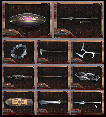 Weapons Of Wakanda-12 Card Set-Black Panther Box-Topps Marvel Collect Digital