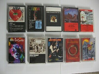 All Rock Music 70s-80s-90s Cassette Tapes Originals & Media Inserts LOT $5 each