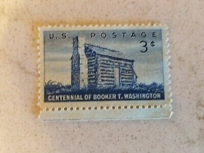 US Postage Stamp Booker T Washington 1956 issue three cents