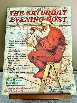 The Saturday Evening Post Magazine Norman Rockwell Santa Claus 12-25-76