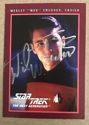 Wil Wheaton AUTHENTIC HAND SIGNED Sports Card Star Trek TNG Wesley Crusher