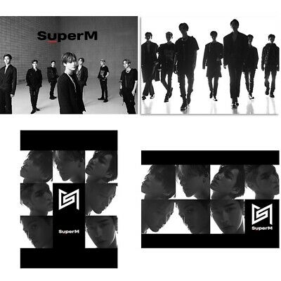 Kpop SUPERM 1st Mini Album Customized Photo Poster Collective Hanging Painting