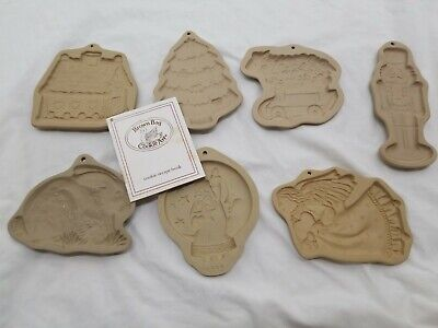 Brown Bag Cookie Art Molds Mixed Lot of 7 Easter Christmas  83-95 RECIPE Book