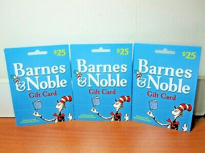 3/pk Barnes & Noble Gift Card - The Cat In The Hat by Dr. Seuss (No Value)