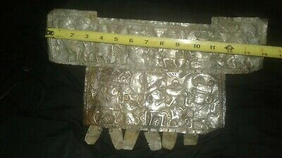 Beatifull chest ornament in Silver,Moche.Precolumbian,mochica,chavin,maya