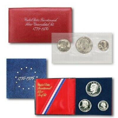 1976 BiCentennial Proof & Uncirculated Silver Set
