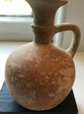 Cypriot Black-on-Red Mintature Terracotta Bilbil/Juglet Circa 1500 BC COA