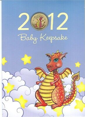2012 Baby keepsake coin Tuvalu year of the Dragon $1