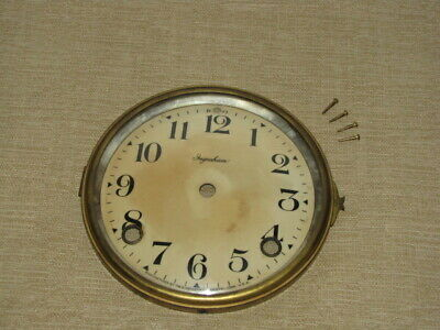 Antique Ingraham Mantle Clock Dial and Bezel