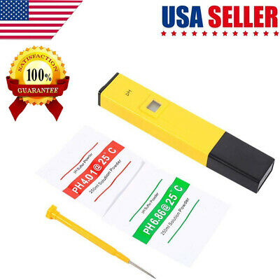Digital pH Meters Pen Size Water Quality Tester with LCD Display and ATC US Sell