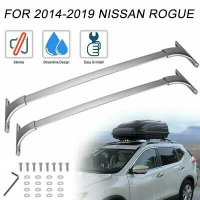 For 2014-2017 2018 2019 Nissan Rogue Roof Rack Cross Bar Carrier Top