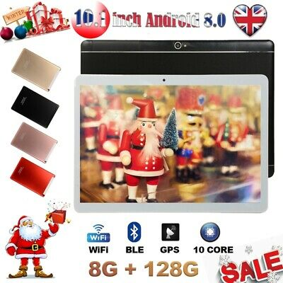 10.1'' 2 SIM Android 8.0 Tablet PC 10 Core WIFI HD 8+128G GPS Dual Camera UK