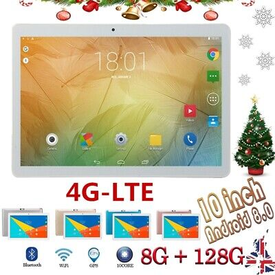 """10.1"""" Tablet PC 8G+128G 10 Core 4G-LTE Android 8.0 Dual SIM Camera Wifi Phablet"""