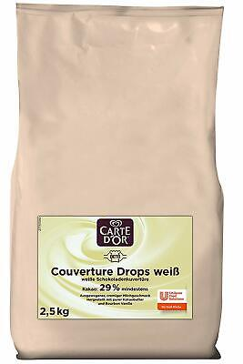 Couverture Drops Schokoladen-Drops weiß Carte D'Or Kuvertüre 1 x 2,5kg 18/4/2020