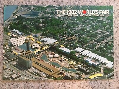 Postcard Unused 1982 World's Fair Knoxville, Tennessee-Aerial View Of The Fair