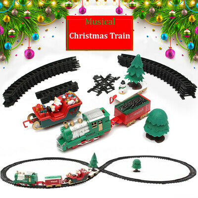 Christmas Train Set Track Musical Sound Lights Around Tree Decoration Santa