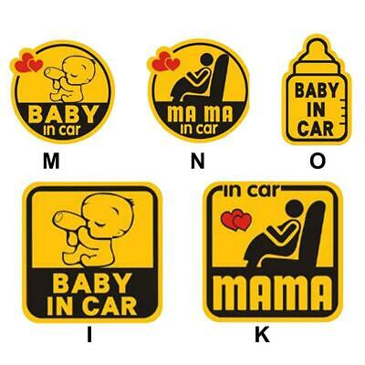 Car Vehicle Reflective Sticker Baby Mom In car Safety Signs Magnetic Decals