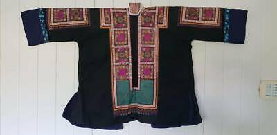 Vintage traditional Miao Chinese hill tribe boho embroidered jacket