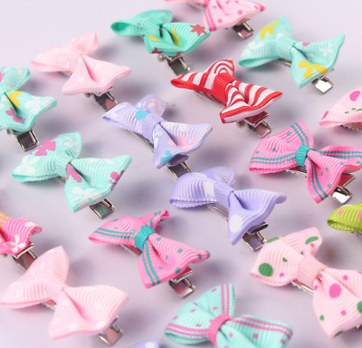 20/40pcs Baby Hair Clips Girls Kids Flowers Hair Clip Bow Hairpin Alligator Clip