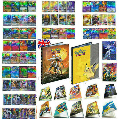 GX EX MEGA Energy Pokemon Cards Holo Trading Flash Card Bundle Or Pikachu Album