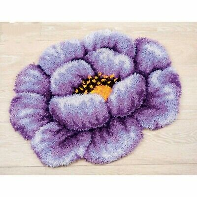 PURPLE LILAC FLOWER LATCH HOOK RUG KIT from UK Seller, BRAND NEW