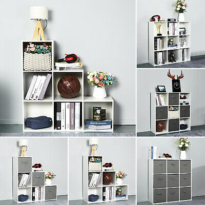 6/9  White Cube Wooden Bookcase Shelving Unit Display Storage Shelf  Home Office