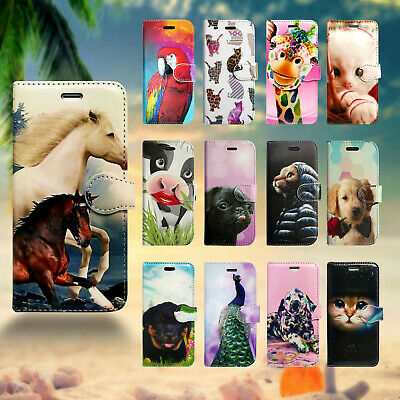 Animal Design Leather Wallet Flip Book Phone Case Cover For Apple Iphone 6 6S