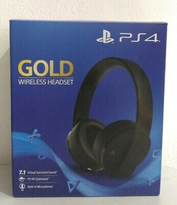 Cuffie Sony Gold Wireless Headset Playstation 4 Ps4 Nuovo New Sigillato 7.1 VR