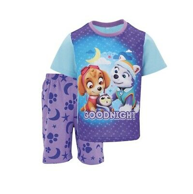 Baby Girls Paw Patrol Skye & Everest Shorty Pyjama Set Size 2-3 Years New