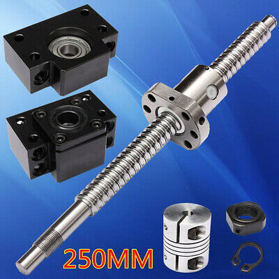SN_ AM_ SFU1605 Antibacklash Ball Screw + BK/BF12 Support + 6.35x10mm Coupler
