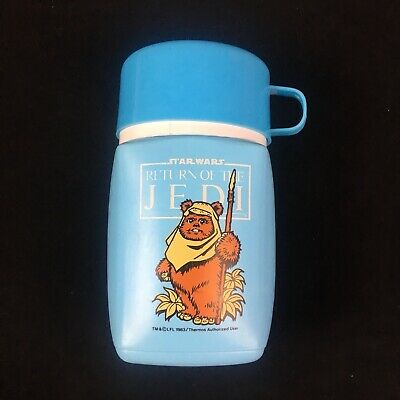 Star Wars Vintage 1983 Return Of The Jedi Blue Thermos Rare - Australian Seller