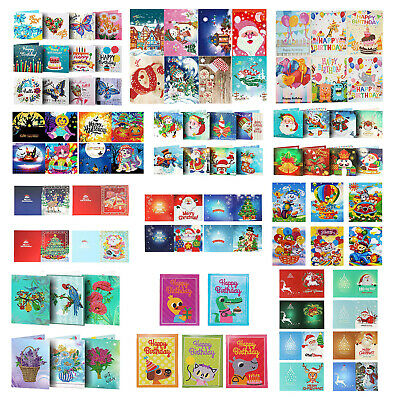 5D DIY Diamond Painting Greeting Card Special-shaped Christmas Festival Gift