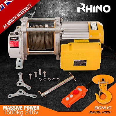 Electric Hoist Winch - Scaffold Mounted Garage Lifting Hoist 240V 750kg - 1500kg