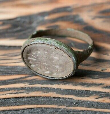 Medieval Heraldic Ring 16th - 17th Century AD, Antique Ring, Medieval Jewelry