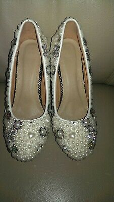 PEARL and JEWEL encrusted SHOES/HEELS