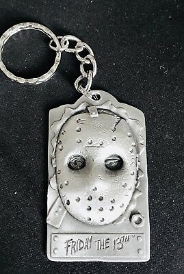 Solid Pewter Jason Friday the 13th Hockey Mask Horror Movie Keychain #96