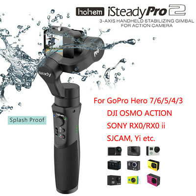 Hohem iSteady Pro 2 Upgraded 3-Axis Handheld Gimbal Stabilizer For Action Camera