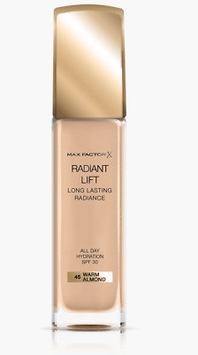 Max Factor Radiant Lift Foundation 45 Warm Almond 30Ml Free P&P