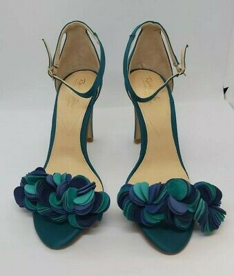Rachel Simpson Wedding/bridesmaid Blue Felt Disc Shoes, Size 4