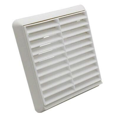 Louvred Wall Vent Grille Extractor Fan Cover Ventilation 100mm 4 Inch Wall Vents