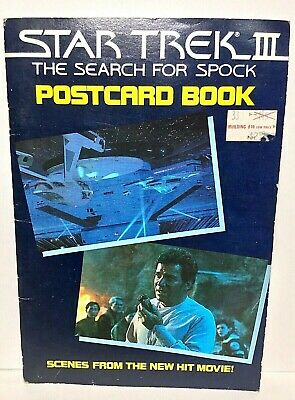 Vintage  Rare   The Search for Spock  1984  Star Trek 3  Postcard Book  ~  FREE