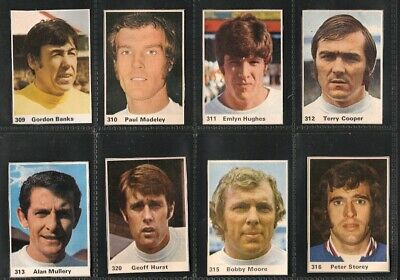 MARSHALL CAVENDISH, Footballers, ENGLAND, 12x Different Cards, VG/EX, 1971