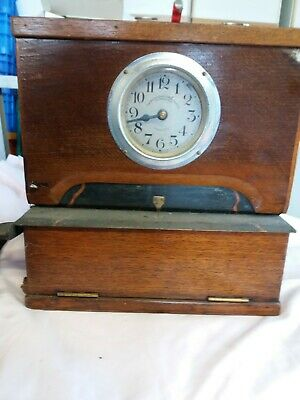 Antique clock Time Recorder Clocking In Machine