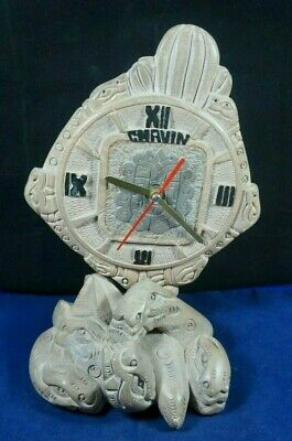 Peruvian Pre Columbian Chavin Style -Clock- carved in natural stone