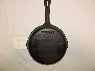 "Wagner Ware 1891 Original 8"" Cast Iron Skillet with Seasoning Instructions"