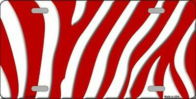 Red ZEBRA License Plate Blanks **Create your own Designs!!**
