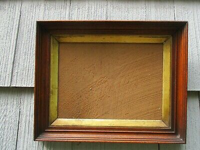 Antique Victorian Walnut Wood Picture Frame with Early Glass fits 9 x 12