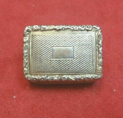 Antique Birmingham 1820's-1830's Sterling Silver Vinaigrette (#2124)