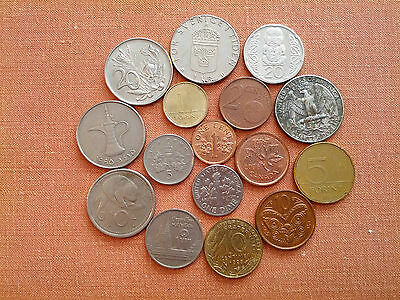 16 Mixed World Coins