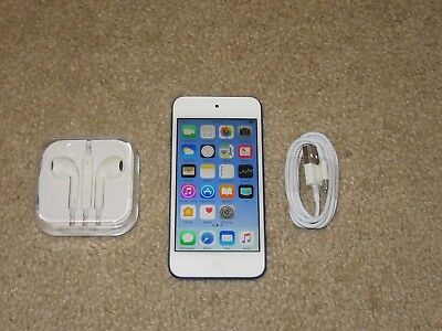 Apple iPod touch 6th Generation Blue (32 GB) -- Bundle - Fully Functional!